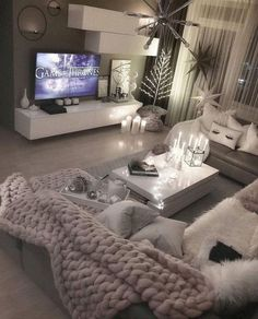 66 the best living room decoration ideas 4 ~ House Of Gallery Living Room Decor Cozy, Living Room Grey, Living Room Furniture, Grey Furniture, Furniture Design, Decor Room, Rustic Furniture, Furniture Layout, Antique Furniture