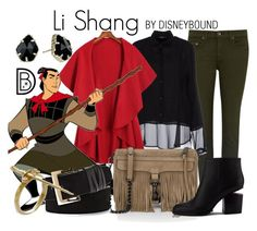 """""""Li Shang"""" by leslieakay ❤ liked on Polyvore featuring rag & bone/JEAN, Siste's, Rebecca Minkoff, Alexander Wang, Vince Camuto, S.W.O.R.D., Kendra Scott, disney, disneybound and disneycharacter"""