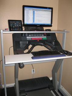 DIY threadmill desk