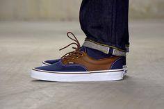 #Vans Era CL Navy/Brown #sneakers