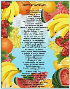 Autumn Activities For Kids, Crafts For Kids, Teaching Kindergarten, Preschool, Croatian Language, Kids Library, Life Lessons, Projects To Try, Fruit