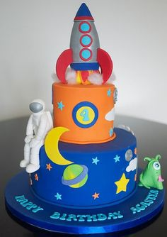 space themed birthday cakes - Google Search