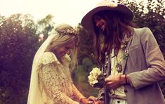 70s inspired wedding shoot ft Keith Richard's daughter ~ incredible styling and photography! http://su.pr/2pi6aX
