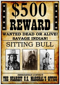 """""""Sitting Bull"""" Fantastic Western Style Wanted Poster sold by Andromeda Print Emporium. Shop more products from Andromeda Print Emporium on Storenvy, the home of independent small businesses all over the world. Sitting Bull, Old West Outlaws, Famous Outlaws, Old West Photos, Poster Art, Original Vintage, Le Far West, History Facts, Vintage Photographs"""