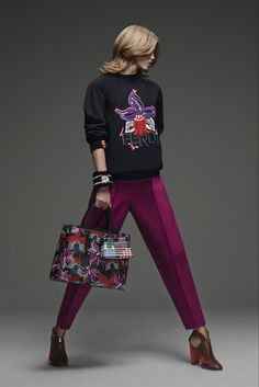 Fendi Pre-Fall 2015 - Collection - Gallery - Style.com : graphic top and handbag