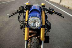 2018 MotoGuzzi Stone cafe racer rebuilt by Lucky Custom for Motoplex Tigre, Guzzi dealer in Argentina Moto Guzzi Motorcycles, New Motorcycles, Cafe Racer Motorcycle, Moto Bike, Cafe Bike, Guzzi V7, Custom Trikes, Bmw 328, Bmw K100
