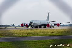 KC-135 Stratotanker seen through the fence. See the rest of my aviation images in full size by clicking on the thumbnail. They are also available to buy in a variety for formats or as a digital download without the watermark. #kc135 #usafe #usaf