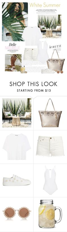 """White Summer"" by isidora ❤ liked on Polyvore featuring Madara, Threshold, APM Monaco, Betsey Johnson, Vince, Yves Saint Laurent, Simone Rocha, Melissa Odabash, House of Holland and Valentino"