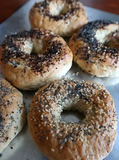 Garlic and Chive Bagels, 45 minute rise time