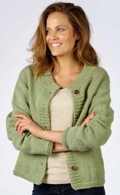 Easy Ladies Stocking Stitch Cardigan Free Knitting Pattern Download