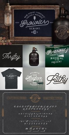 Growler Script by Hustle Supply Co. on Creative Market #type #lettering #typography