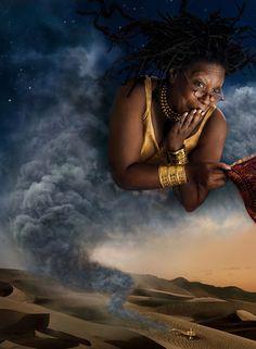 Annie Leibovitz for Disney: Whoopi Goldberg as The Genie from Aladdin