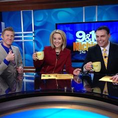 "HAPPY FRIDAY! 9&10 Adam Bartelmay is joining us all morning long on ""Michigan this Morning""! Coffee clinks, friends!  - Sara Simnitch 05/16/14"