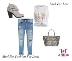 """""""Look For Less #JustFab Challenge!"""" by madforfashion78 ❤ liked on Polyvore featuring VILA, JustFabulous, LookForLess, justfabba and ambdsr"""