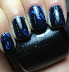Nails by an OPI Addict: Homemade Black Spotted Tutorial
