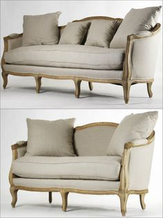 This French Inspired And Hand Stitched Sofa And Loveseat Presents A Country  Charm In Natural