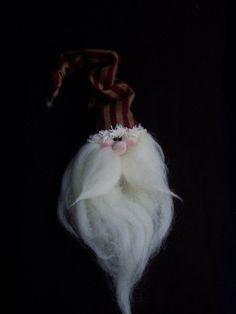 Santa Ornament Kringle Primitive ornie by happyvalleyprimitive, $10.00