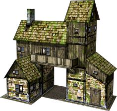 Dave Graffam Models Minecraft Building Guide, Minecraft Plans, Minecraft Blueprints, Minecraft Houses, Fantasy City, Fantasy House, Fantasy Places, Fantasy Village, Base Building