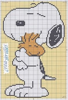 Free Snoopy and Woodstock Cross Stitch Chart