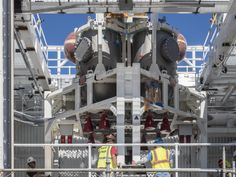 On Feb. 22, engineers successfully installed ESA's European Service Module Propulsion Qualification Module (PQM) at NASA's White Sands Test Facility in New Mexico that was delivered by Airbus – ESA's prime contractor for the Service Module. The module will be equipped with a total of 21 engines to support NASA's Orion spacecraft.