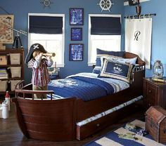 The Happier Homemaker: Pirate Sail Headboard. Little Boys RoomsBig Boy  RoomsCool Boys RoomLittle ... Part 69