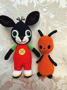 It's a Bing Thing (Free Amigurumi Patterns) Crochet Patterns Amigurumi, Amigurumi Doll, Crochet Toys, Knitting Patterns, Ravelry Crochet, Free Crochet, Bing Hase, Bing Bunny, Pom Poms