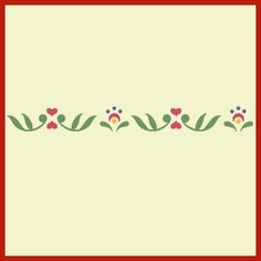 The Rosemaling Pattern 3 stencil is a simply beautiful way to decorate your home in the Norwegian or Swedish style -- original designs from The Artful Stencil.