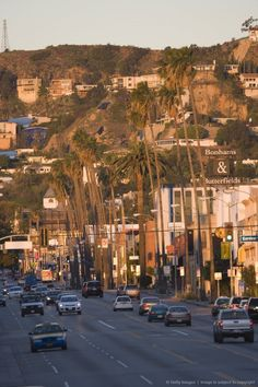 Sunset Boulevard, Hollywood, Los Angeles, California.