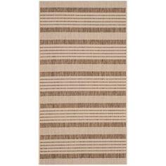 Courtyard Brown/Bone (Brown/Ivory) 2 ft. 7 in. x 5 ft. Indoor/Outdoor Rectangle Area Rug