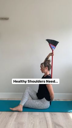 """heartandbonesyoga on Instagram: You asked for it, my friends! More """"activated"""" versions of yoga poses. Building from my last post with the broom and shoulder mobility,… My Last, You Ask, Yoga Everyday, Level Up, Yoga Poses, Friends, Shoulder, Healthy, Building"""