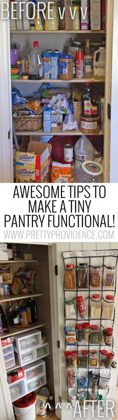 Okay there are some seriously amazing tips in here! I have always hated my tiny pantry, and I can't wait to turn it into this!