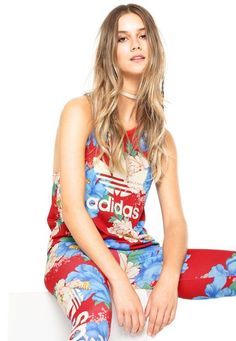 Loja Dafiti Regata adidas Originals FARM Chita Oriental Vermelha/Azul