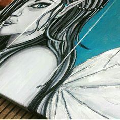 Tuinschilderij www.creativeartbyjessica.nl #elfje #fairy #tuindecoratie #tuinschilderij #art #kunst #painting #paintings #schilderij #schilderijen #bohemian #bohostyle #hippie #hippiestyle