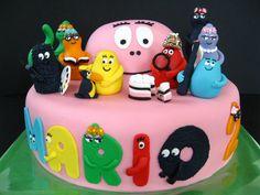 Barbapapa cake taart. Meer Barbapapa spullen zijn te vinden op www.vanallesvan.nl