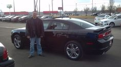 Sean and his new Dodge. #BillHarrisAuto
