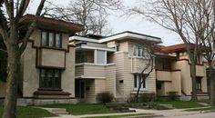 The Arthur L. Richards Duplex Apartments 1916, Frank Lloyd Wright