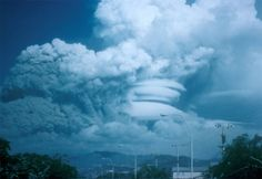 On June 15, 1991- Mt. Pinatubo (in the Philippines) blew its top again, creating the 2nd. largest volcanic eruption of the 20th. century!  The eruption was a VEI-6, & caused high-speed avalanches of hot ash & gas (pyroclastic flows), giant mudflows (lahars), & a cloud of volcanic ash that spanned hundreds of miles across.