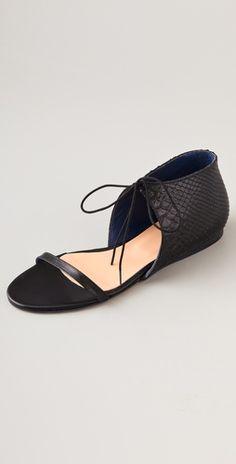 Tibi stella flat sandal