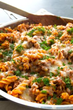 Skillet Cheesy Beef