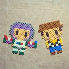 Buzz and Woody - To Story hama beads by lauratgar8