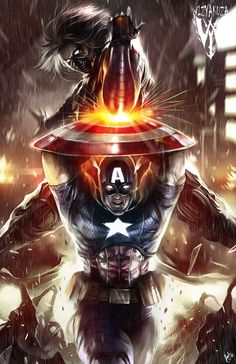Captain America vs Winter Soldier by Ceasar Ian Muyuela......!!!!