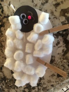 Jesus is the Good Shepherd sheep craft - adapted from various pins