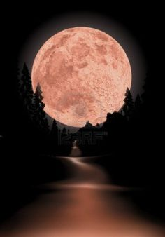glowing fullmoon background the moon is completely round to use for other scenes Stock Photo