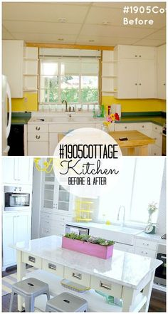 #1905Cottage Kitchen Reveal at Tatertots and Jello #DIY #Kitchens