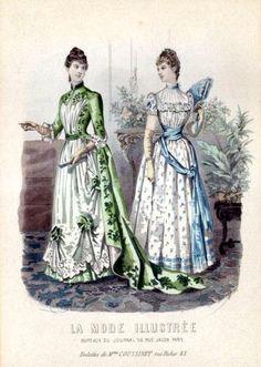 19th Century Fashion Plate: La Mode Illustree, 1889 by CharmaineZoe, via Flickr