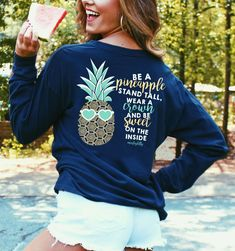 Get our favorite pineapple shirt FREE now at Marleylilly.com for a limited time only! Click this picture to find out how! #pineapples #flashsale
