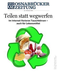 Nahrungsmittel entsorgen? Das sollte nicht sein. Unsere aktuelle iPad-Ausgabe (23.02.2013) beschäftigt sich unter anderem mit der Shareconomy.    www.noz.de/digitalabo