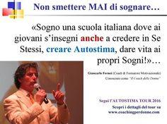 """Rompi i Tuoi Schemi Mentali: #Autostima: """"Una scuola italiana che insegna a cre..."""