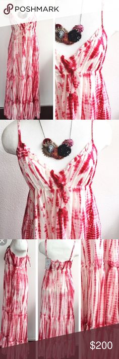 fc86bd2a59d Pink Punch Tie Dye Maxi Dress NWT brand is Pete  amp  Greta sold at  anthropologie