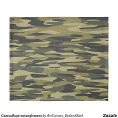Camouflage entanglement duvet cover